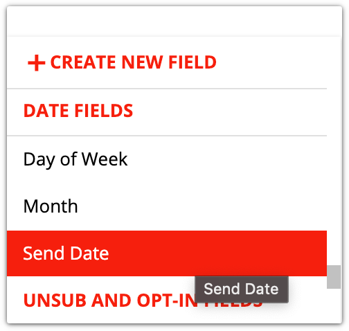 send date merge field example