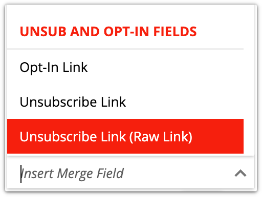 raw unsubscribe link