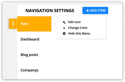 Navigation settings