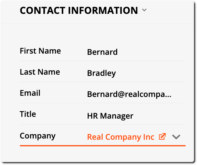 Contact info example