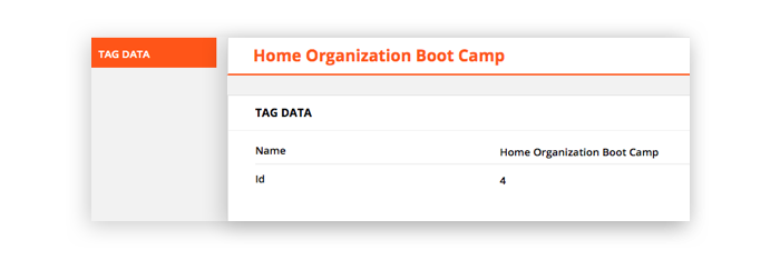 Screenshot showing the Tag Editor feature in the Ontraport app