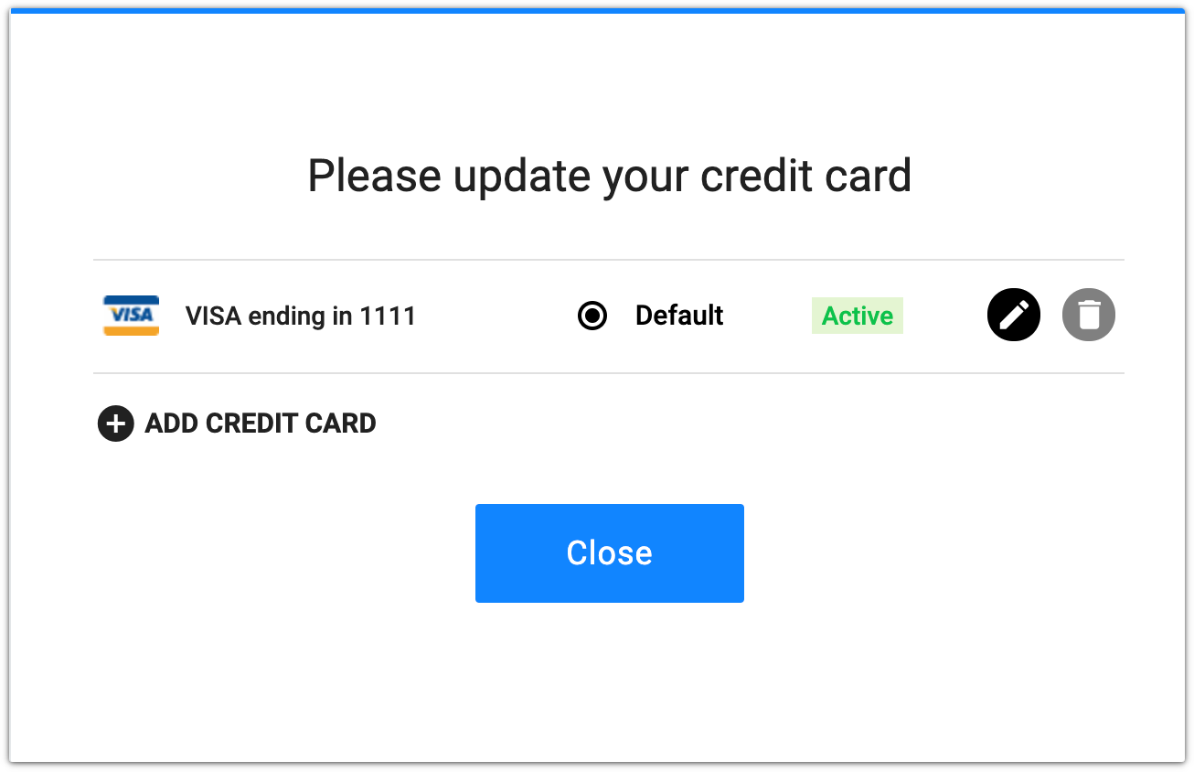 update credit card example