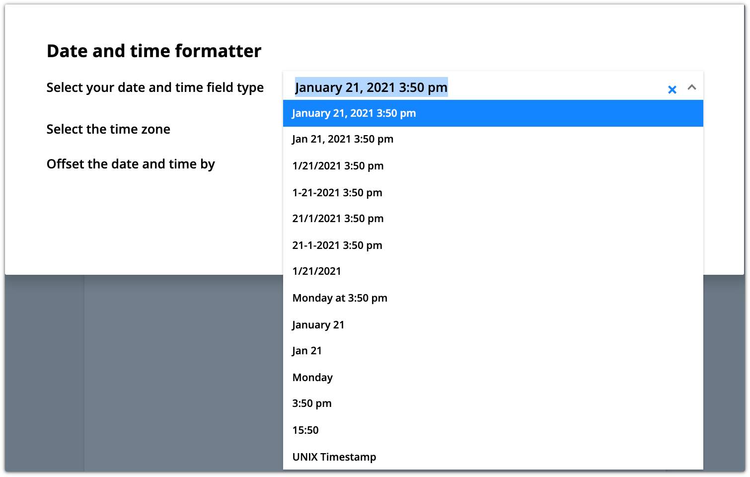 Date and time merge field formatter