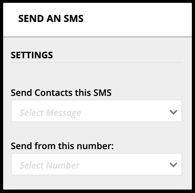 send an SMS settings