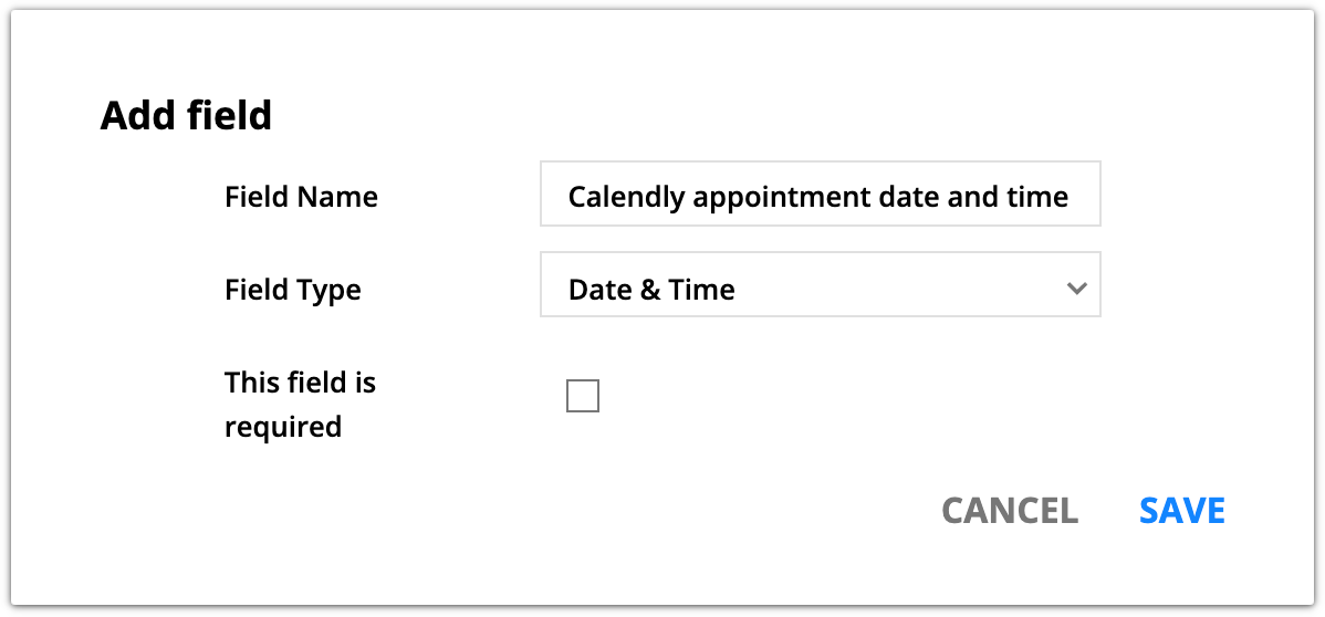 example custom date and time field